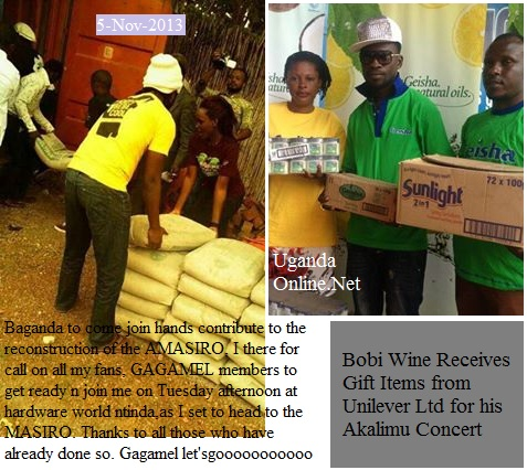 Bebe Cool and Bobi Wine in charitable mood