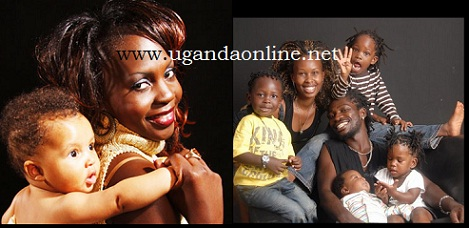 Iryn Namubiru with her child and Bobi Wine's family