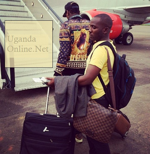 Chameleone and his manager on their way to TZ a few days back