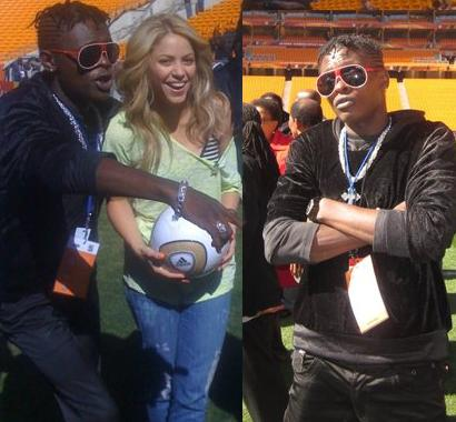 Jose Chameleone with Shakira in South Africa