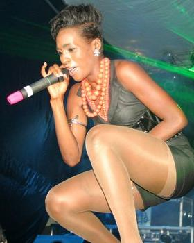 Cindy performing at Club Silk recently