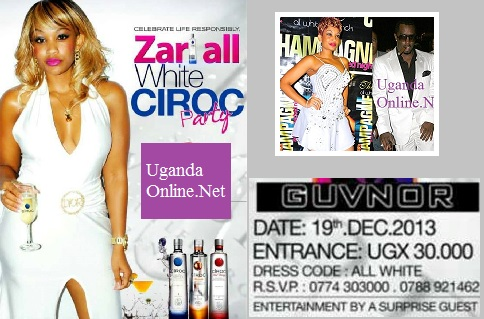 Zari All White Ciroc Party