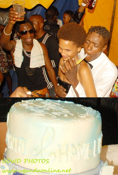 Coco Finger cheering Chameleone on his Birthday
