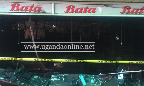 The entire Bata shop was destroyed and nothing was saved.