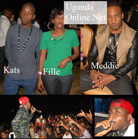 Kats, Fille and Meddie at the Davido/Chameleone show