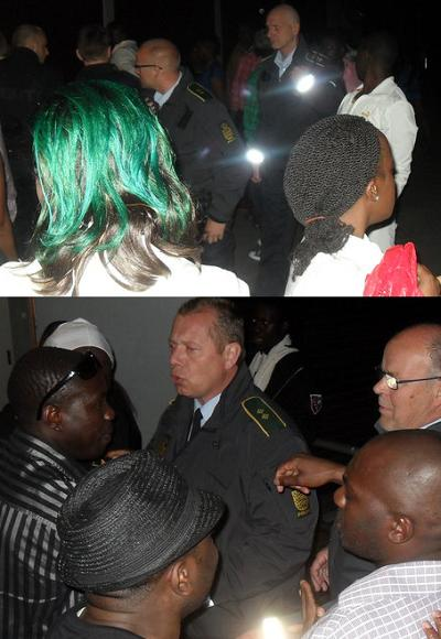 Police was called in to bring sanity to Bebe Cool's show in Denmark last Saturday