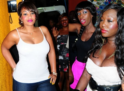 Zari, Judith Heard and Sue Ochola at Club Silk recently