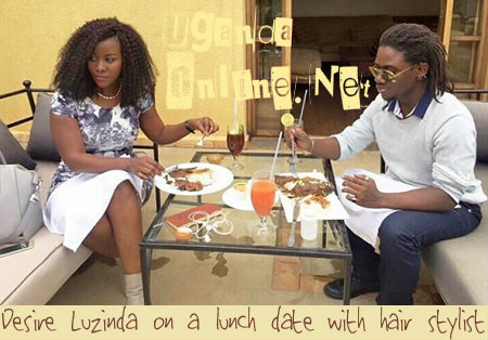 Desire Luzinda on a lunch date with hair stylist
