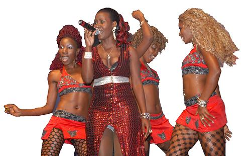 Desire Luzinda and her Queen dancers