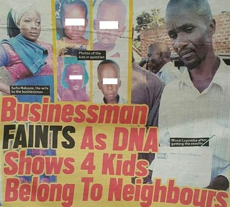 Man in shock as DNA reveals children not his