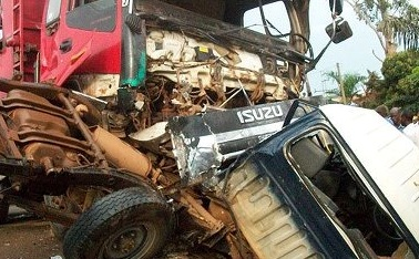 Entebbe road accident that left four police officers dead