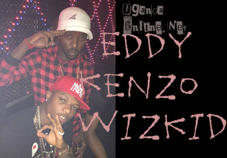 Eddy Kenzo and Wizkid in Lagos