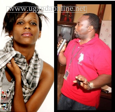 TPF2 Winner Esther Nabaasa and the producer of Yoga Yoga song Richard Kaweesa.