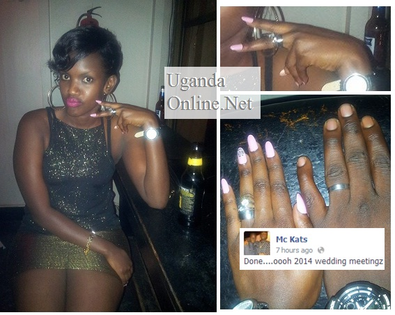 Mc Kats and Fille showing off their engagement rings