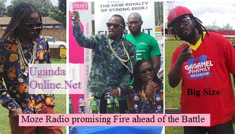 Bebe Cool and the Goodlyfe Crew at the last press conference for the Battle