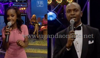 Flavia and IK during the Big Brother Stargame Live show