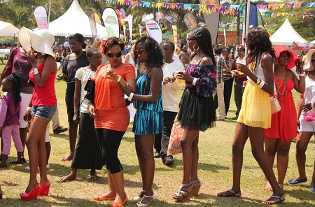 babes at a goat races function in Munyonyo