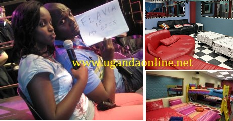 Uganda's Flavia Tumusiime and IK plus a section of the Big Brother Stargame House