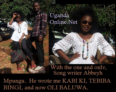 Iryn and her song writer, Abbey Mpungu