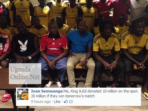 Ivan, King Lawrence and the Uganda Cranes in Cape Town