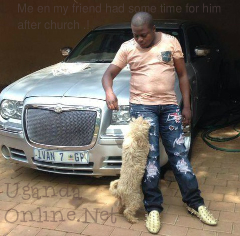 Ivan Semwanga spending some quality time with his pet