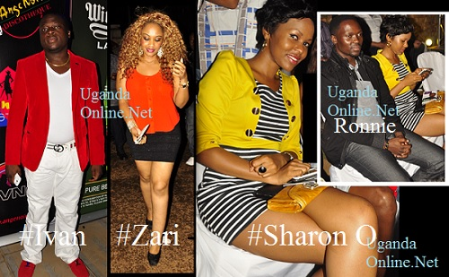 Tycoon Ivan Ssemwanga, Zari, Sharon and inset is Sharon and Ex.