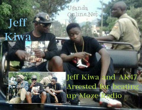 Jeff Kiwa and AK47 on a police pick-up