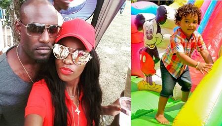 Maurice Kirya and Helen Lukoma enjoying each other's company