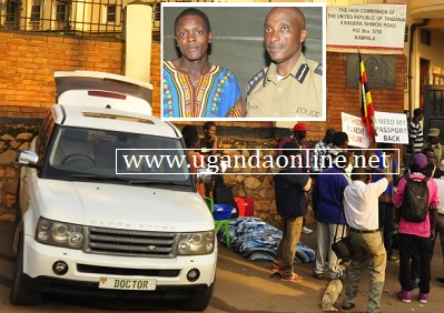 Chameleone's range rover, mattress at the Tanzanian High Commission in Kampala