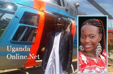 Joel Isabirye before boarding and inset is Rebecca Jjingo