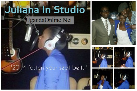 Juliana in studio with Sylver Kyagulanyi