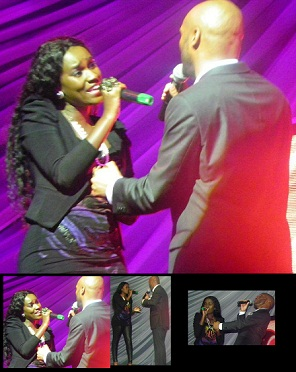 Juliana sings her heart out to Kenny Lattimore