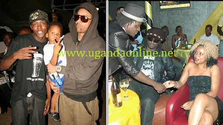 Jose Chameleone and Shaggy on his last visit to Uganda while Davis Ntare greets Zuena