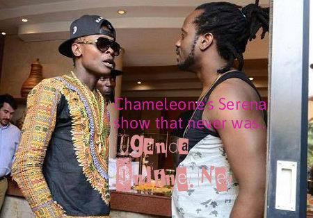 Jose Chameleone with Bebe Cool at Serena Hotel in Kigali