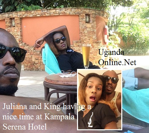 Julian and King Lawrence having a nice time at Serena Hotel