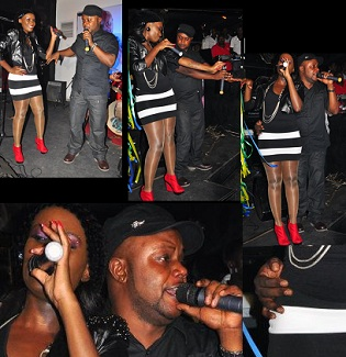 Juliana and Kidum performing at Club Rouge recently