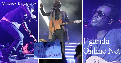 Maurice Kirya doing his thing at Serena Hotel
