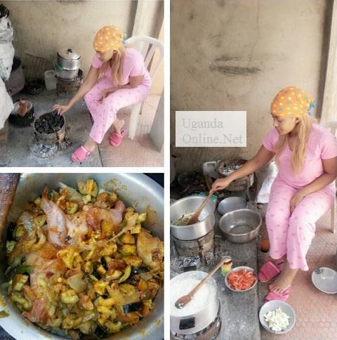 Zari preparing chicken stew