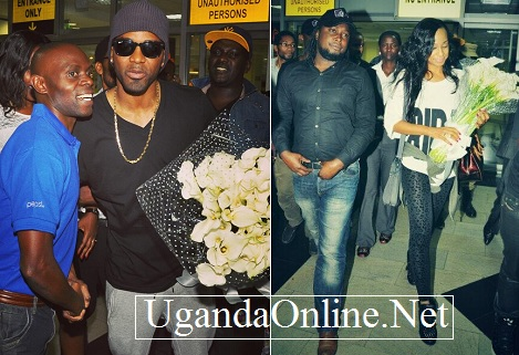 Konshens and Alaine on arrival in Kampala, Uganda on 21-Aug-2013