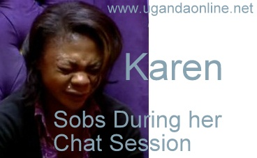 Karen sobs guring her chat session