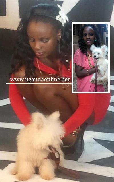 Leila Kayondo and her pet
