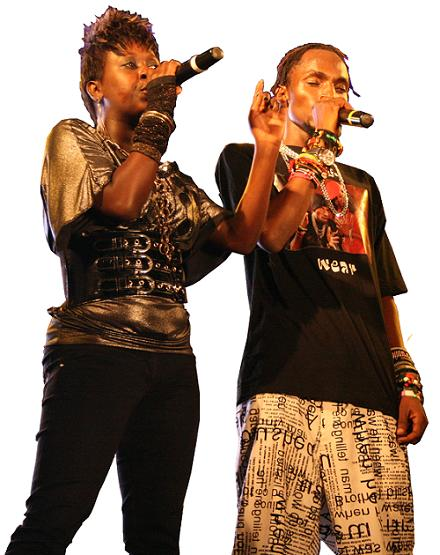 Lillian and Mowzey Radio during the Nyambura Launch at Hotel Africana