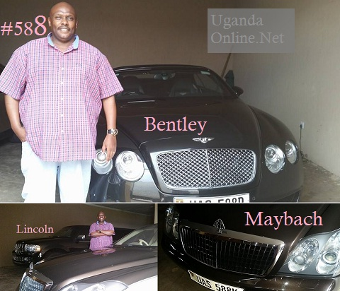 Desh Kananura next to his Maybach 57 and and a Lincoln stretch and also next to a Bentley