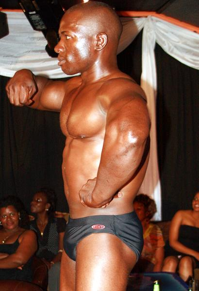 Male model at the Black Fashion Show