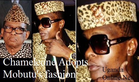 Jose Chameleone at Lugogo Cricket Oval and inset is the late Zaire President, Mobutu Sese Seko.