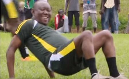 The unfit Kato Lubwama kept on falling