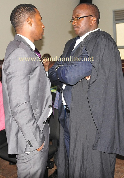 Meddie Ssentongo at the Anti-Corruption Court today