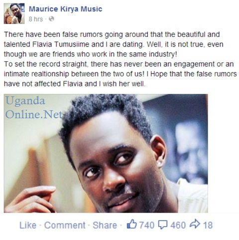 Maurice Kirya's post clearing the space