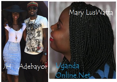 Judith Heard posing with Adebayor recently
