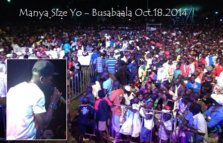 Bobi Wine performing to a huge crowd at Busabaala